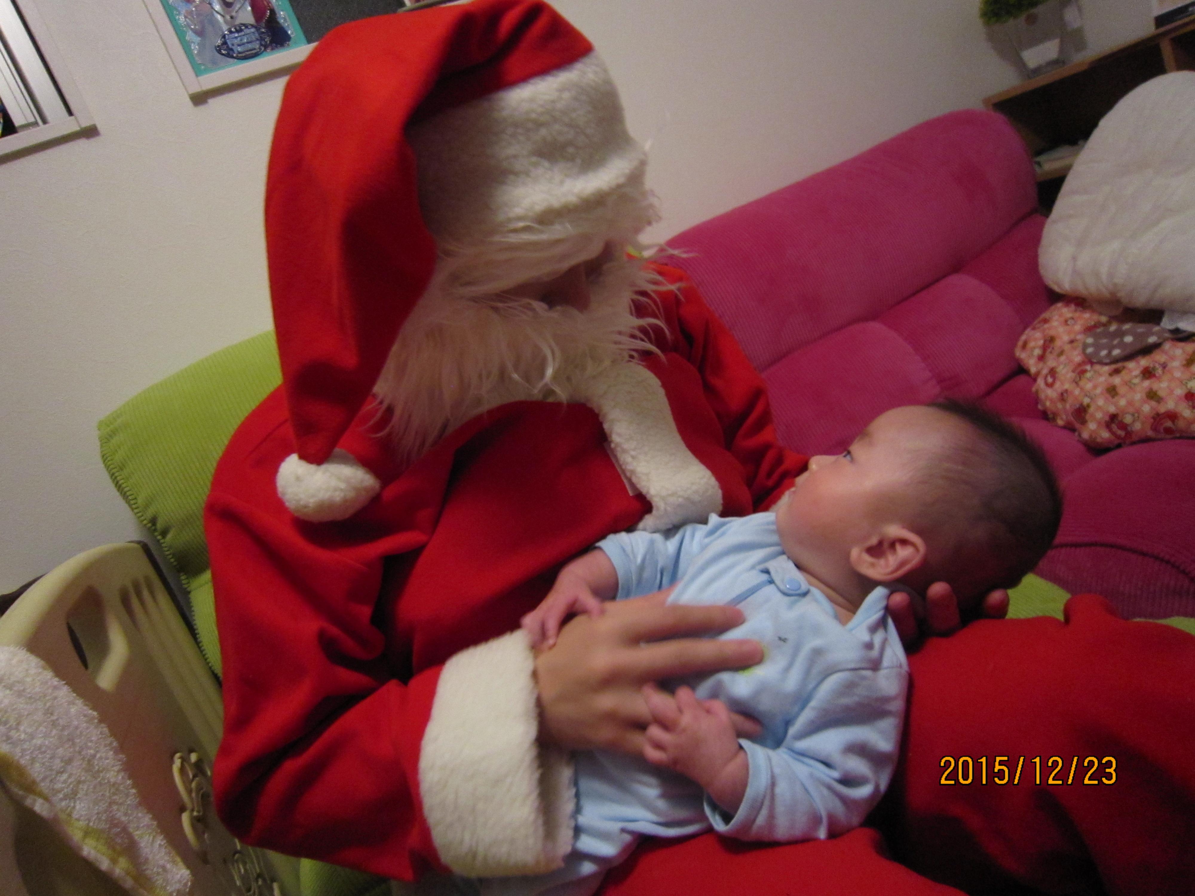 無事、サンタを終えて、家族のもとへ