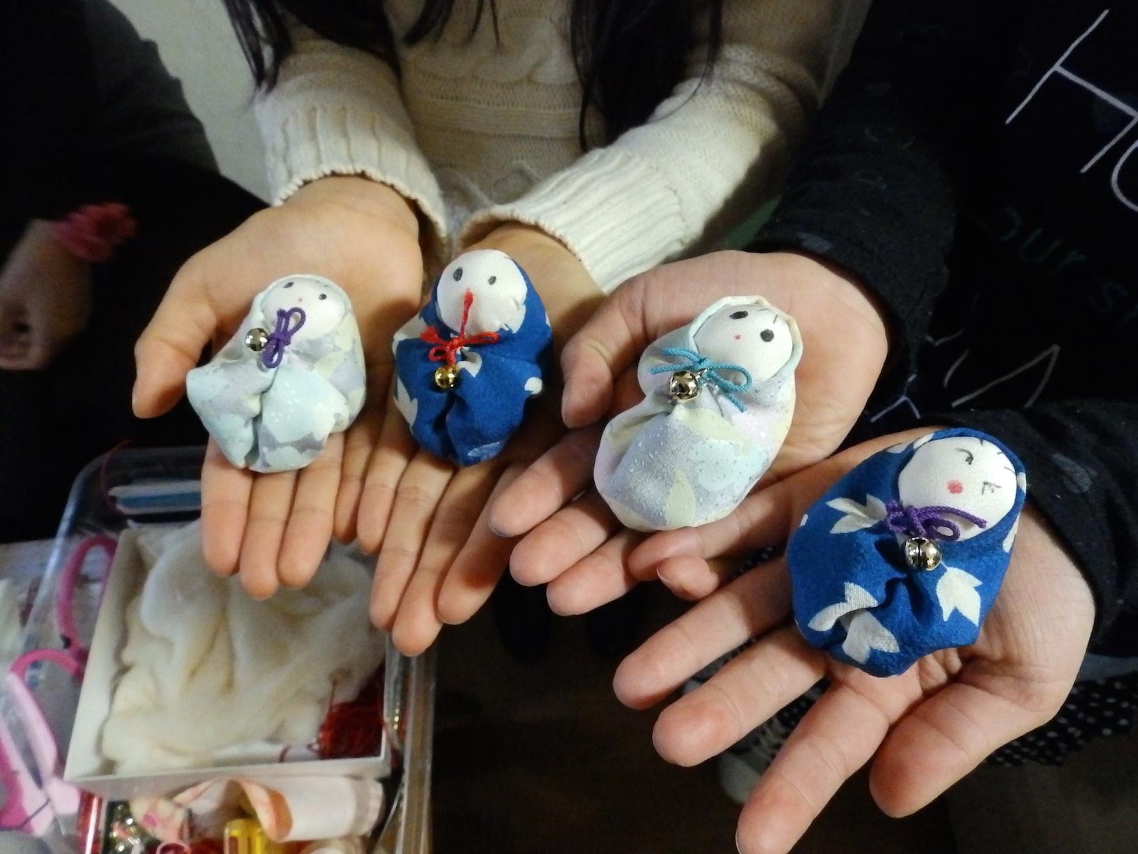 街なか商店塾を体験してみた①「ちりめん細工・お手玉人形作り」(ビューティサロンぼたん@ジョイフル三ノ輪)