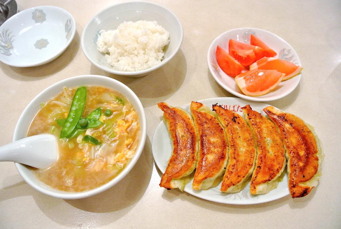 【あらかわ満点メニュー】を食べてきた②「野菜もりもり餃子セット」- 川ばた