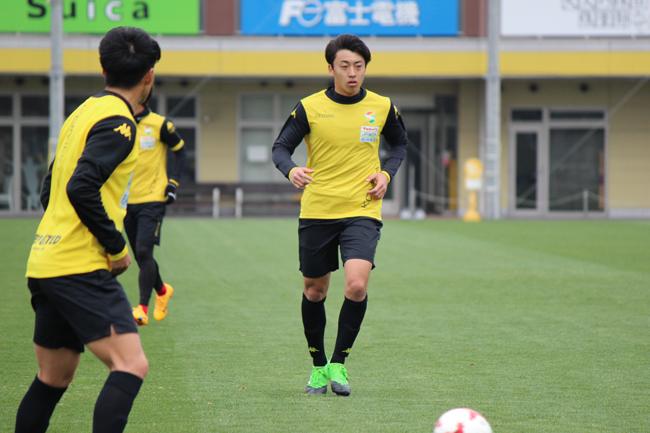 高橋壱晟選手「シュートを打つ感覚はできてきたので、あとはゴールを取れれば。できればホームで取りたいです」