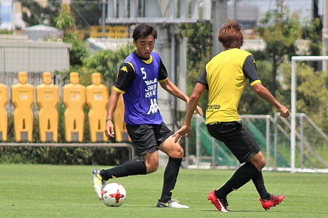 高橋壱晟選手「ゴールも狙っていきます」