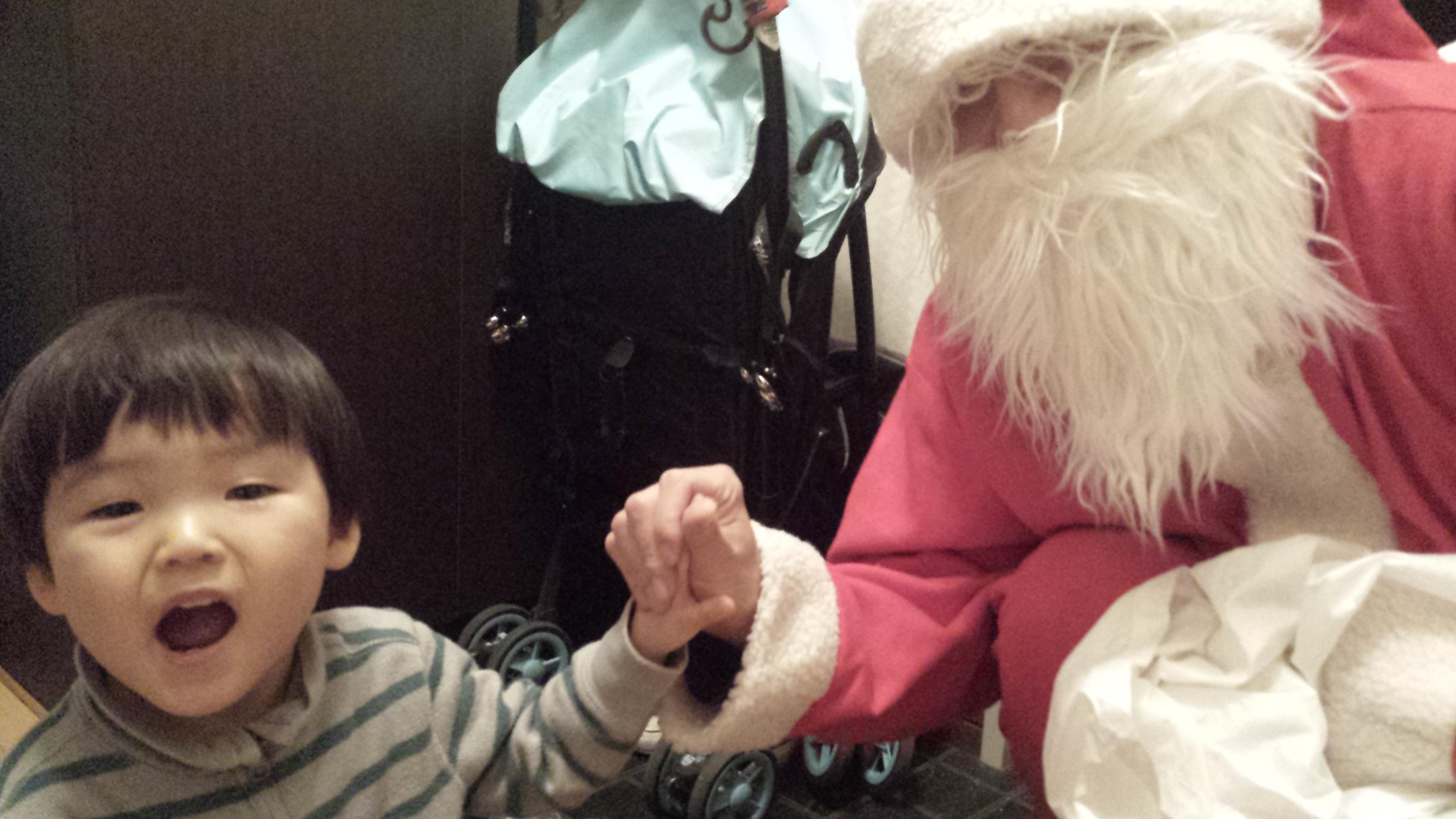 「サンタさん」との思い出がプレゼント
