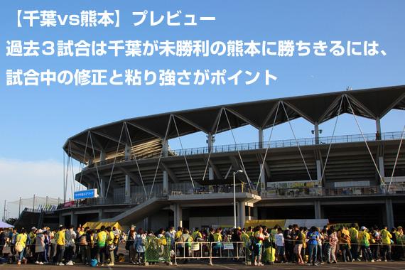 【千葉vs熊本】プレビュー:過去3試合は千葉が未勝利の熊本に勝ちきるには、試合中の修正と粘り強さがポイント