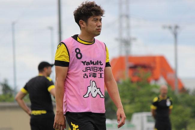 高木利弥選手「山形がなければ、自分はプロになっていなかったと思う。でも、山形に勝つことしか考えていない」