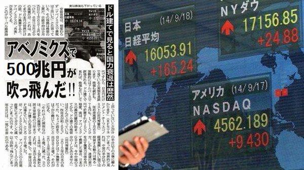 安倍晋三のサギノミクスによって日本の富580兆円が消えた。 億万長者は130万人減少・・・クレディ・スイスの衝撃リポート