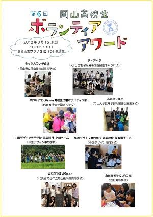 【インターン生レポート①】「第6回 岡山高校生ボランティア・アワード」開催!