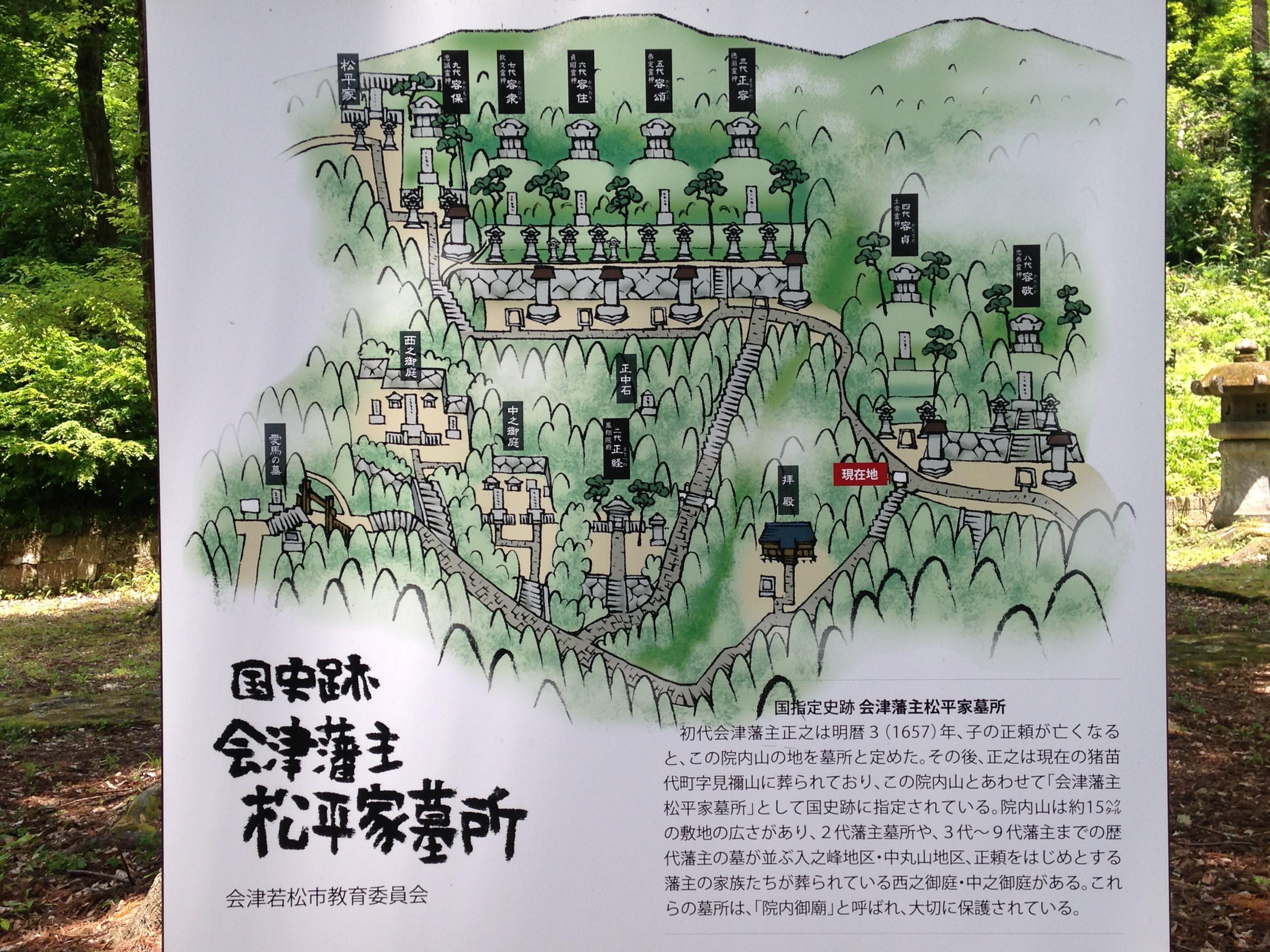 会津藩松平家墓所