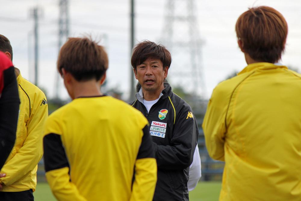 江尻篤彦監督「攻守にわたって選手がいい表現をしてくれているので、新しい監督さんにいい形で引き渡したいと思います」