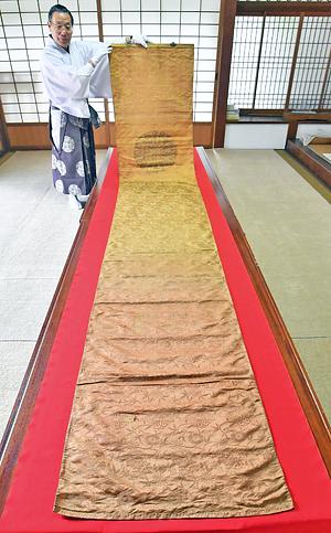 錦の御旗が福島県内で発見