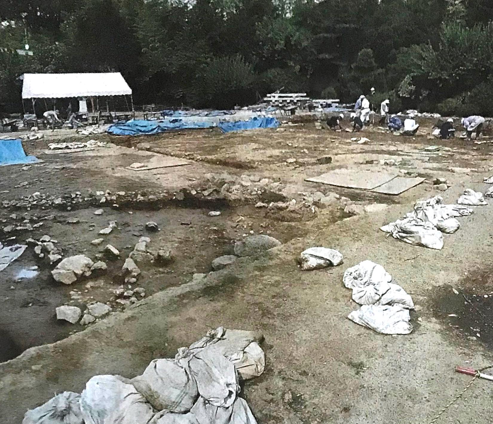 磐城平城 本丸御殿跡の遺構か