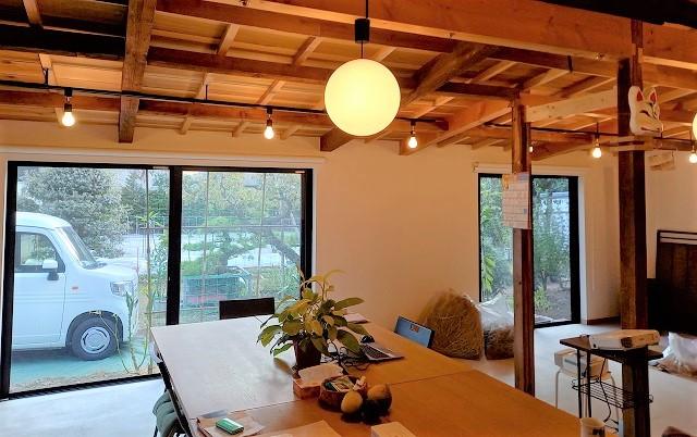 田畑のある一軒家を改装しオープンスペースに/目白台のちんじゅの森サロンほぐほぐ