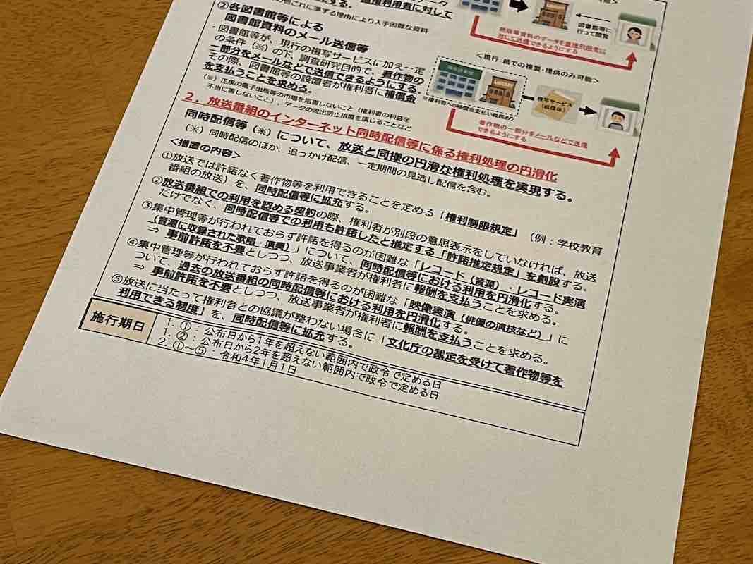 著作権法改正で同時配信の手続きは本当に楽になるのか〜塚本幹夫氏寄稿〜