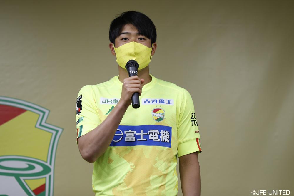 岩崎悠人選手「(水戸の)サイドバックの背後が空いてくるのかなと思っているので、そこにランニングしてサイドで起点を作っていければいいかなと思っています」