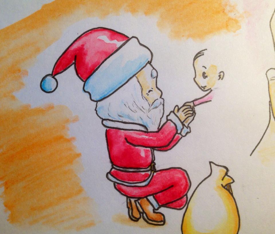 """サンタクロースは、パパやママの""""君への愛"""""""