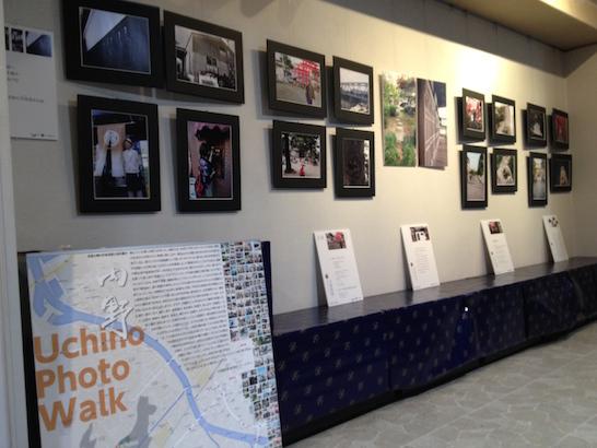 やしち酒店の2階のギャラリーで内野の写真展に行ってきた!