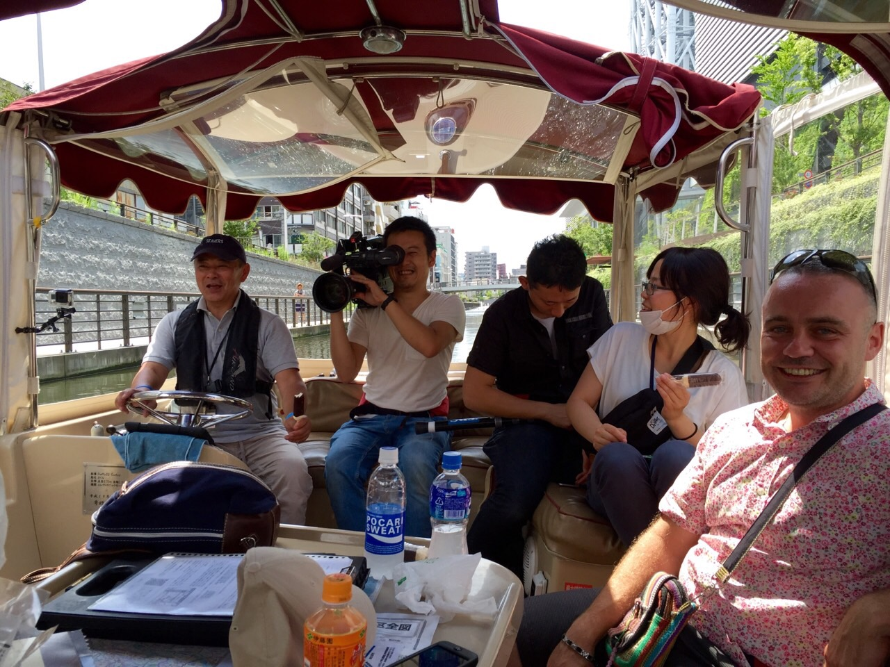6/28放映のNスタ(TBS)に於いて、「東京水辺散歩 船で行くソラマチ散策ツアー」の模様が紹介されました!