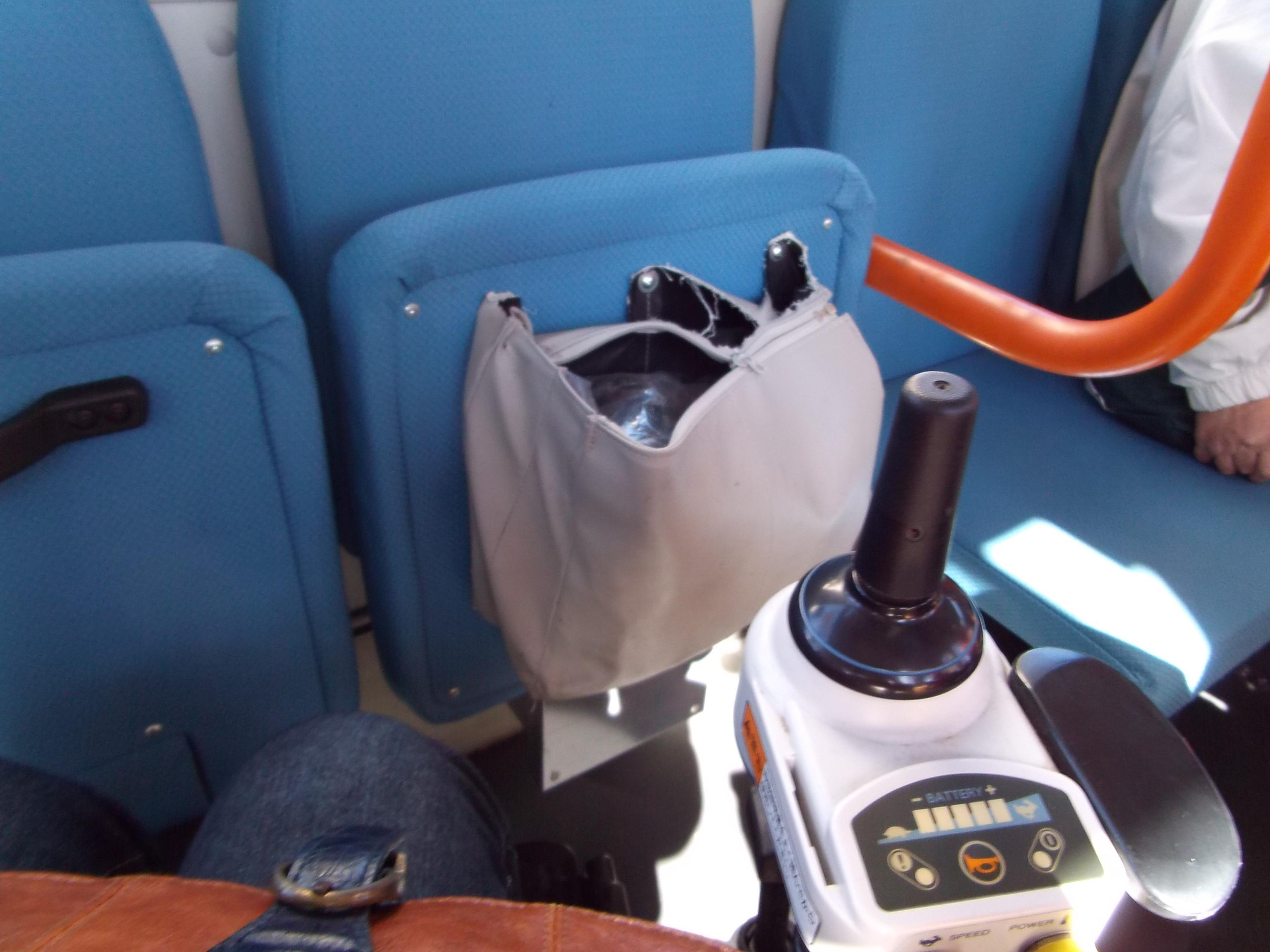 バス内の車椅子用スペース