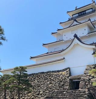 會津鶴ヶ城の石垣