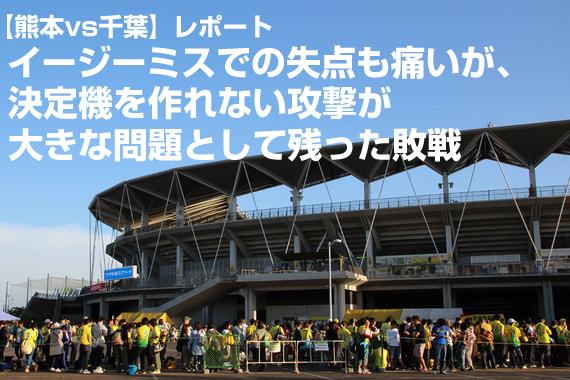 【熊本vs千葉】レポート:イージーミスでの失点も痛いが、決定機を作れない攻撃が大きな問題として残った敗戦