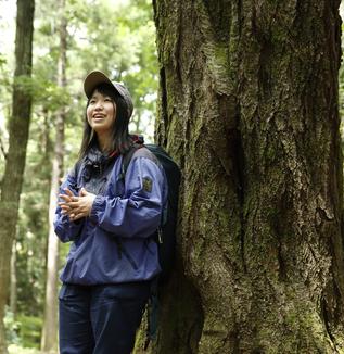 団体紹介1 宮城県「森のようちえん虹の森」代表 清水冬音さん
