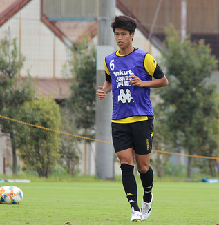 鳥海晃司選手「山形は強いですけど、ホームでしっかり勝ちを届けられるようにみんなで一体感を持ってやりたい」