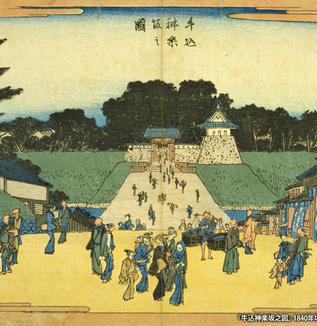 江戸の坂道(神楽坂)