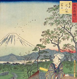 江戸の坂道(目黒の行人坂)