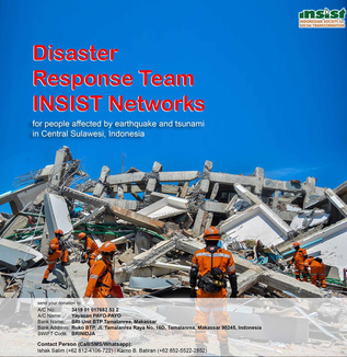 スラウェシ中部地震被災地支援募金へのご協力のお願い(松井和久)
